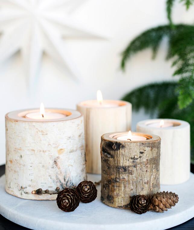 Valoa ja luonnonläheistä tyyliä sisustukseen kynttilälyhdyillä