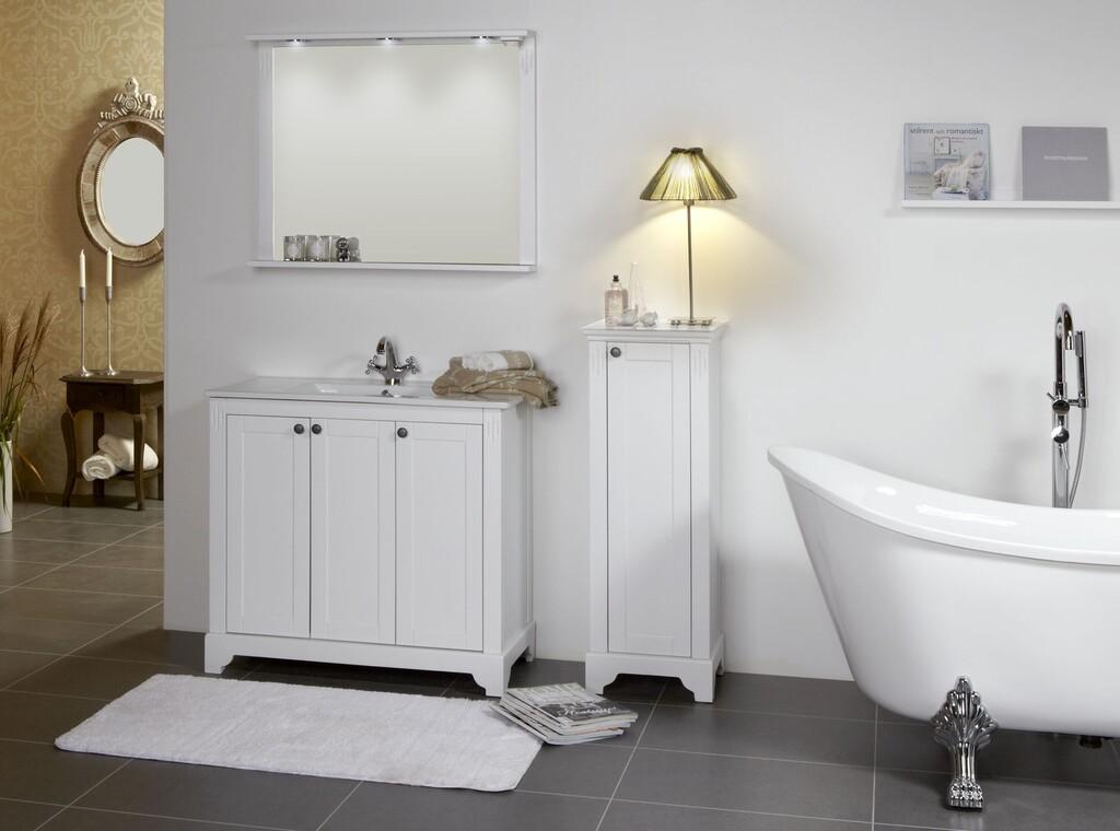 Romanttisia ja ylellisiä yksityiskohtia kylpyhuoneen kalusteissa
