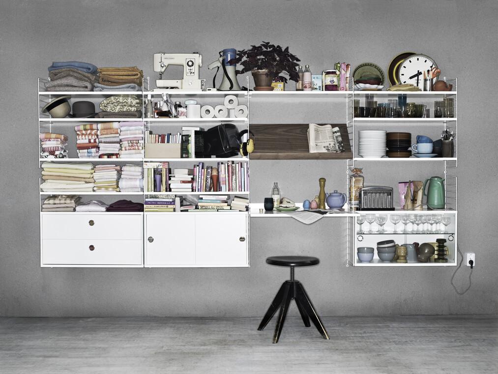 Käytännöllistä, muunneltavaa hyllytilaa kodin eri huoneisiin
