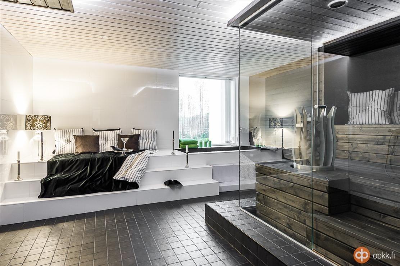 Upea sauna ja spa-osasto