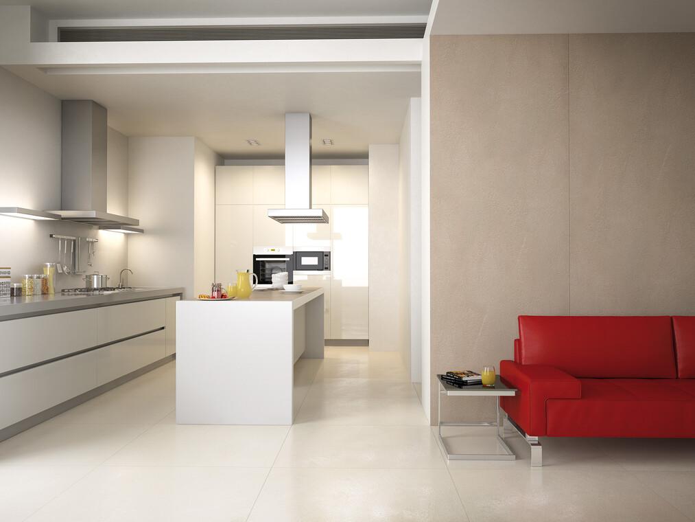 Suurikokoisilla laatoilla voi luoda kotiin kauniita, yhtenäisiä lattiapintoja