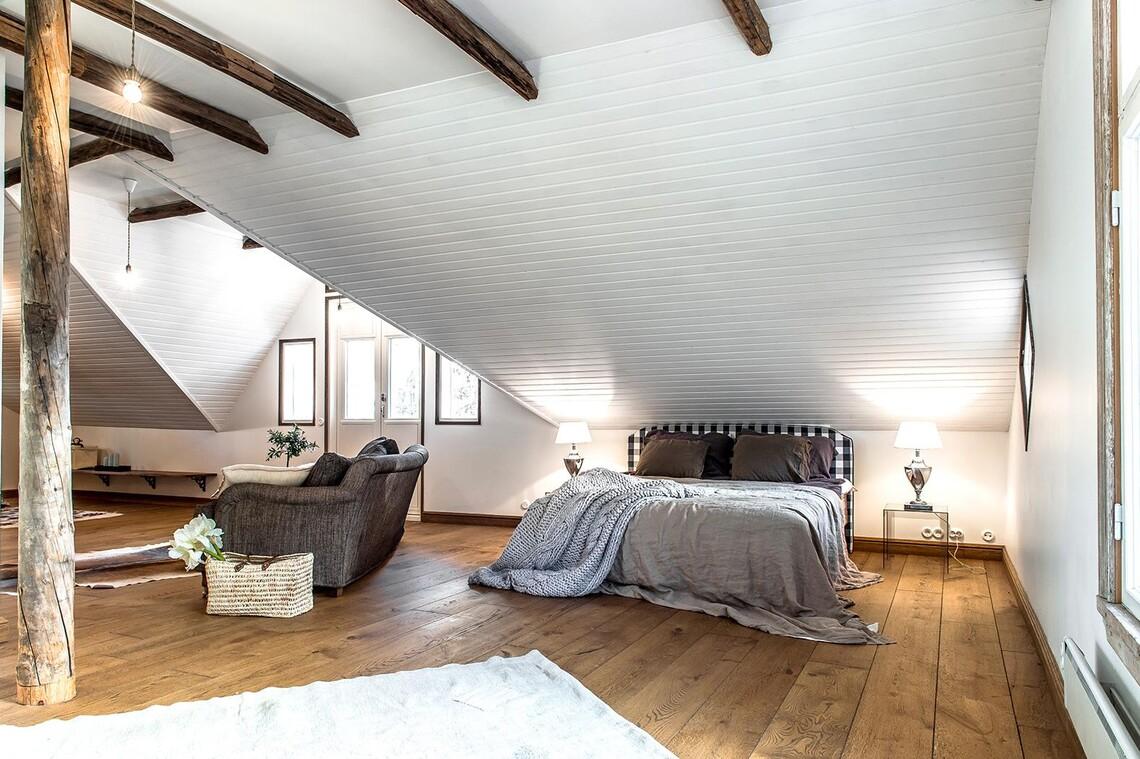 Maalaisromanttinen makuuhuone