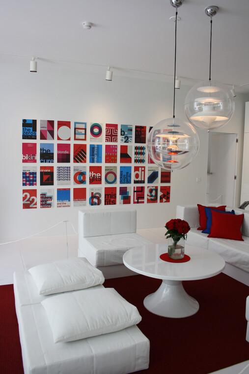 Olohuone kohteessa Talo Luck, Asuntomessut 2014 Jyväskylä