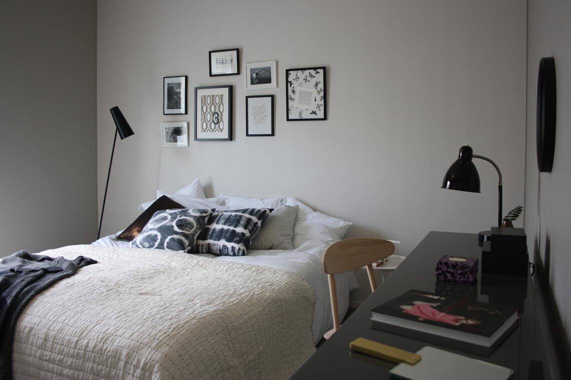 Makuuhuone kohteessa Kanerva, Asuntomessut 2014 Jyväskylä