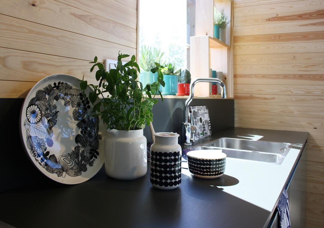 Keittiö kohteessa Skammin Talo, Asuntomessut 2014 Jyväskylä