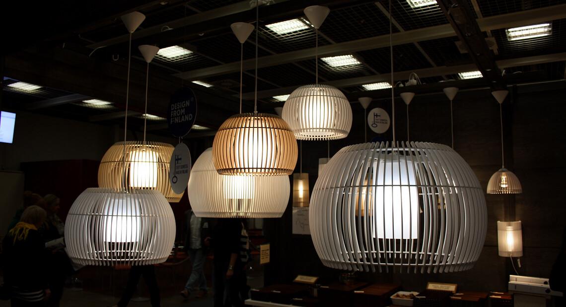 Tyylikkään modernit valaisimet, Habitare 2014
