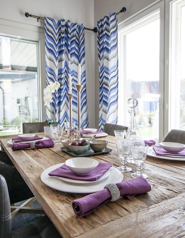 Ruokailutila kohteessa Planiatalo Amanda, Asuntomessut 2015 Vantaa