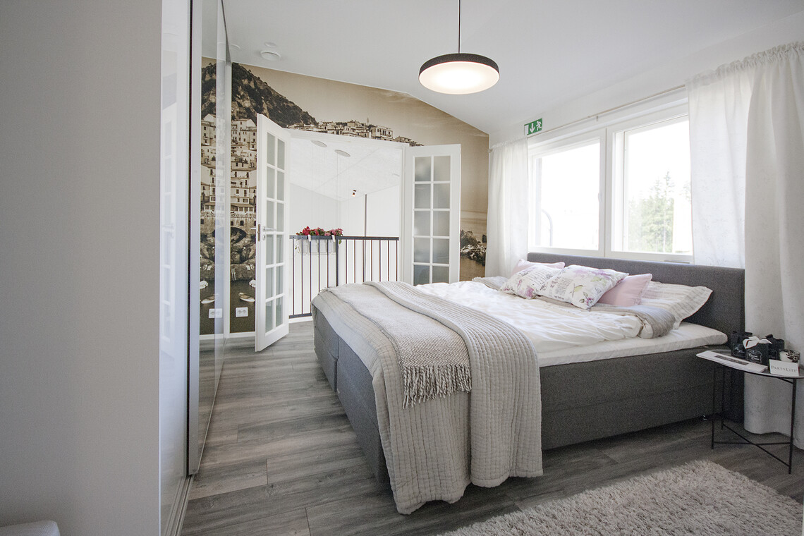 Makuuhuone kohteessa Terca Tiger, Asuntomessut 2015 Vantaa