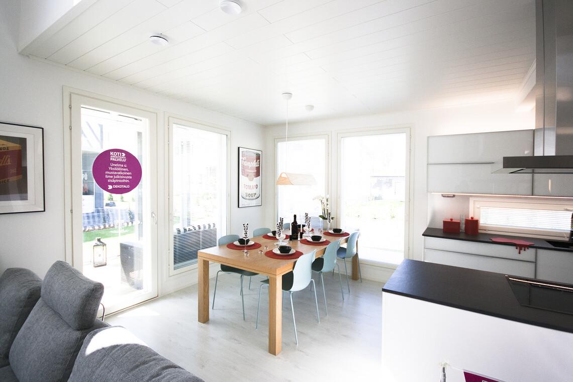 Ruokailutila kohteessa Deko 192, Asuntomessut 2015 Vantaa