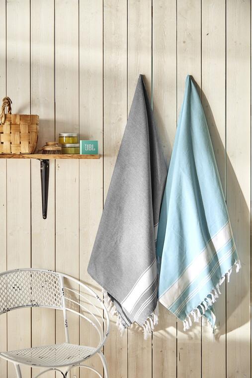 Käytännölliset hamam-pyyhkeet sopivat kesäsaunaan