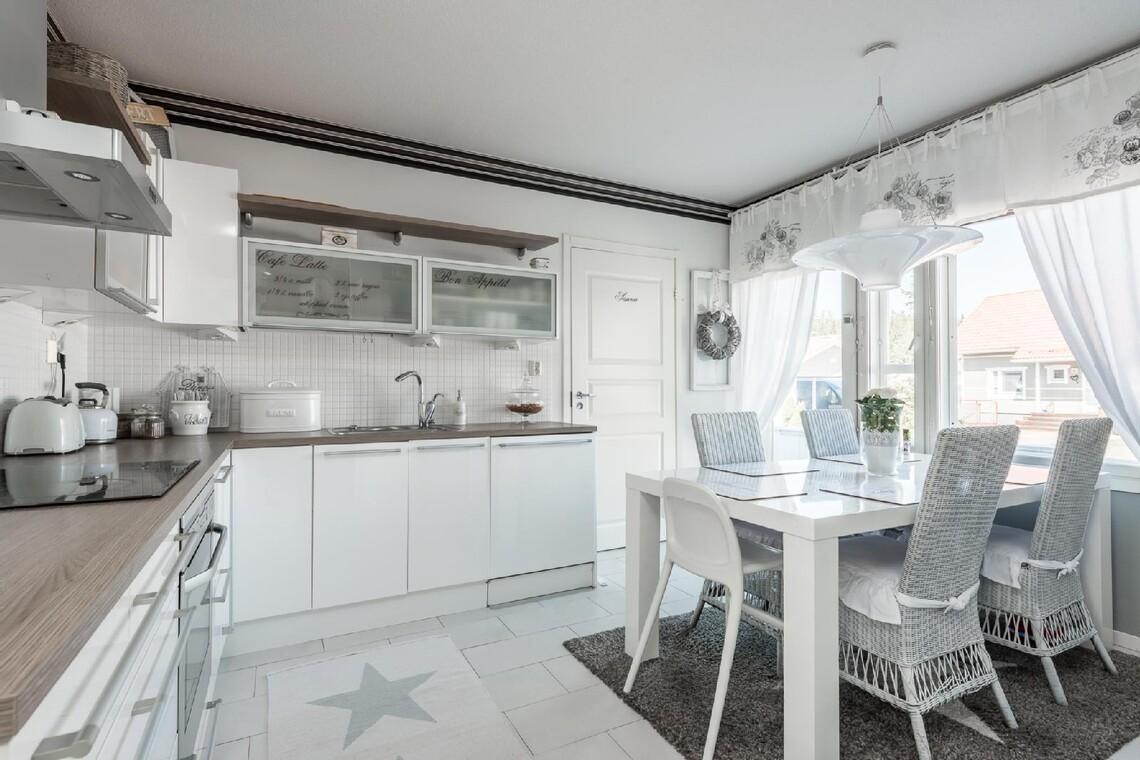 Romanttista tunnelmaa keittiössä