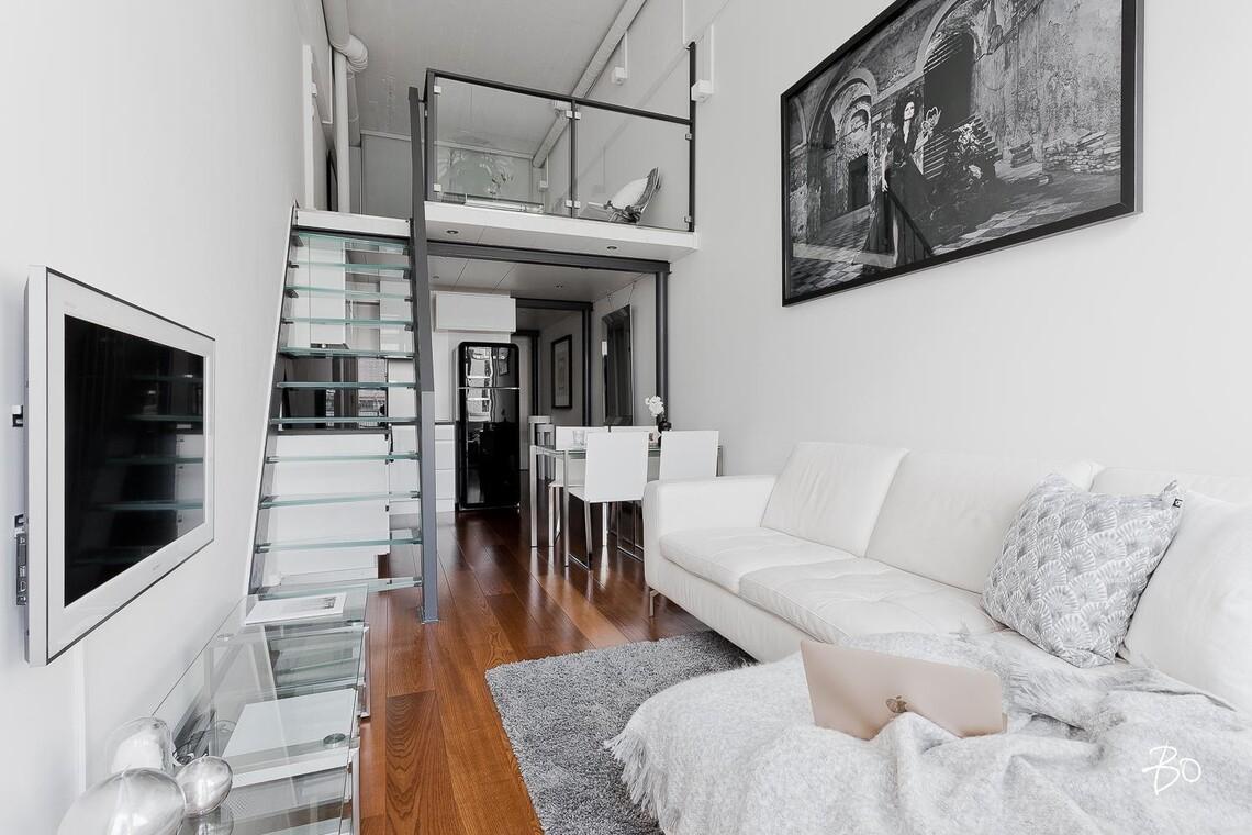Upea loft-yksiö on täydellinen citykoti