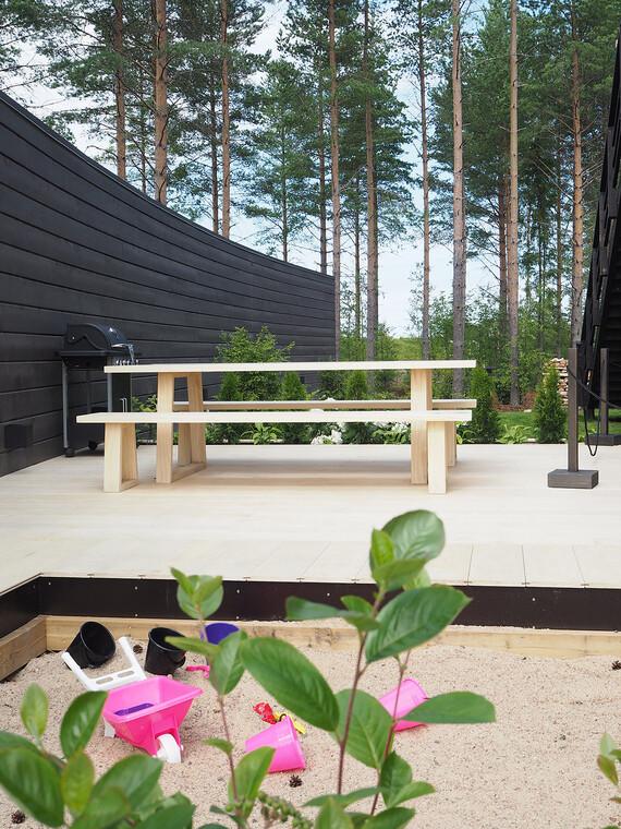 Terassi kohteessa Riihi, Asuntomessut 2016 Seinäjoki