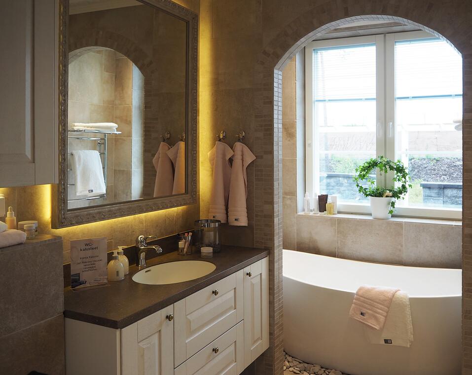 Kylpyhuone kohteessa Villa Tango, Asuntomessut 2016 Seinäjoki
