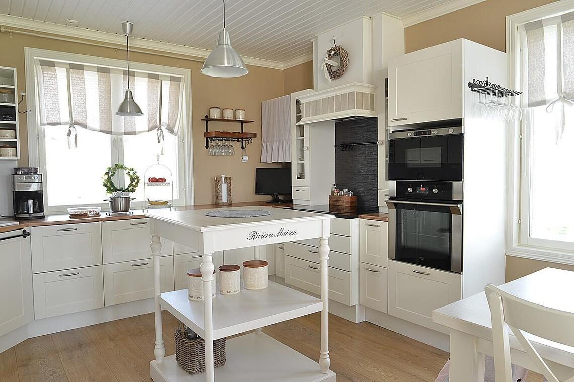 Romanttista tyyliä keittiössä
