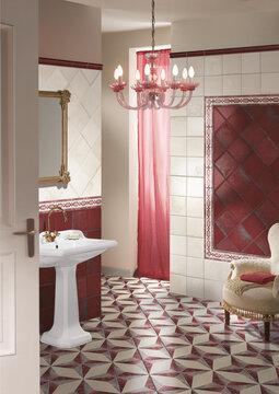 Lumoavilla tehostelaatoilla viimeistelty kylpyhuone vie sinut ajassa menneisyytee