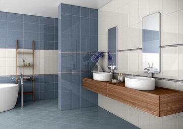 Kylpyhuoneen kauniina kiiltävät laatat tekevät tilasta aistikkaan