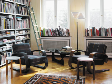 Klassisen skandinaavisen muotoilun ilmeikkyyttä olohuoneen sisustuksessa