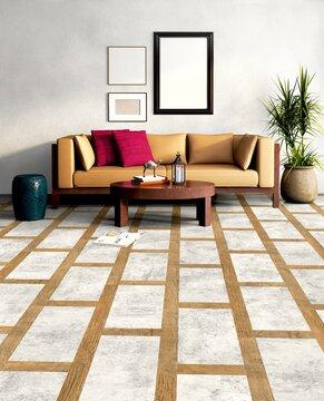 Rohkea ja raikkaan eksoottinen tyyli lattialaminaatista kalusteisiin