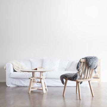 Kaunista, modernia muotoilua olohuoneen sisustuksessa