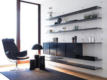 Yhteinäistä, modernia tyyliä olohuonenurkkauksen sisustukseen