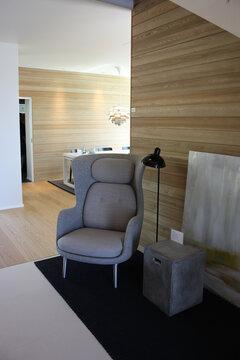 Olohuone kohteessa Passiivikivitalo Leija, Asuntomessut 2014 Jyväskylä