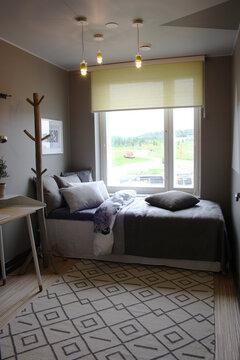 Makuuhuone kohteessa Viherperhe, Asuntomessut 2014 Jyväskylä
