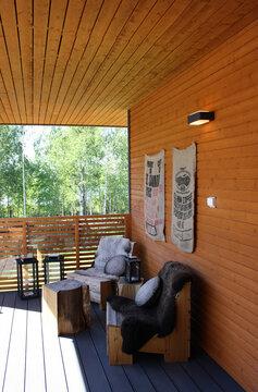 Terassi kohteessa Deko, Asuntomessut 2014 Jyväskylä