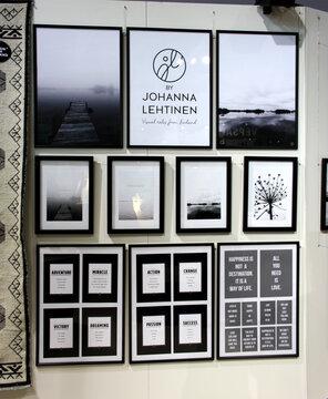 Seinät heräävät eloon kauniilla valokuvilla ja sisustusjulisteilla, Habitare 2014