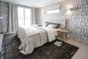 Makuuhuone kohteessa Planiatalo Amanda, Asuntomessut 2015 Vantaa