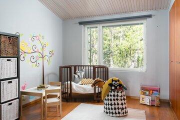 Veikeä seinämaalaus lastenhuoneessa