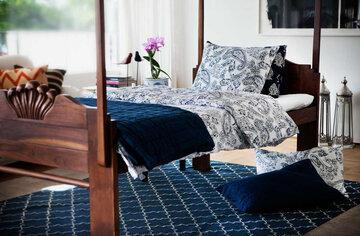 Kaunis paisley-kuvioinen pussilakanasetti