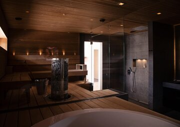 Tyylikkään tunnelmallinen spa-osasto