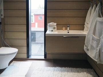 Kylpyhuone kohteessa Riihi, Asuntomessut 2016 Seinäjoki
