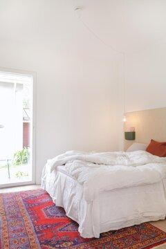Skandinaavista tyyliä makuuhuoneessa