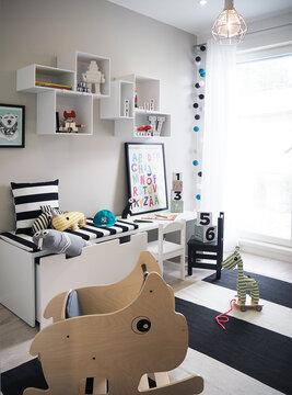 Lastenhuone kohteessa Hartmankoti Ruutu, Asuntomessut 2016 Seinäjoki