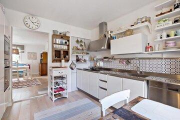 Rento ja kodikas tunnelma keittiössä