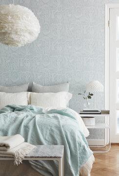 Höyhenenpehmeä tunnelma makuuhuoneessa