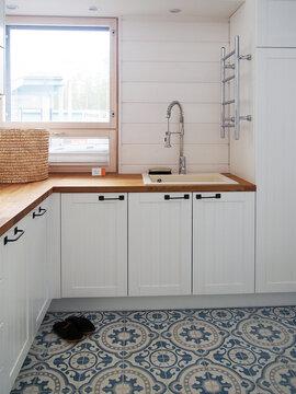 Kodinhoitohuone kohteessa Lumimustikka, Asuntomessut 2016 Seinäjoki