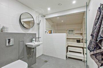Mikrosementtiä remontoidussa kylpyhuoneessa