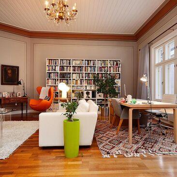 Skandinaavisia klassikoita olohuoneessa