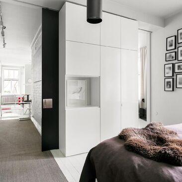 Skandinaavinen makuuhuone 1170301