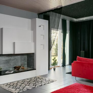 Rento monitoimitila modernin talon alakerrassa