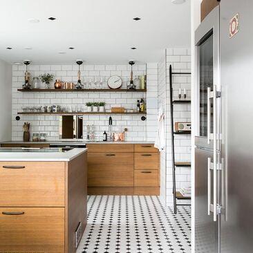 Tyylikkäitä laattapintoja keittiössä