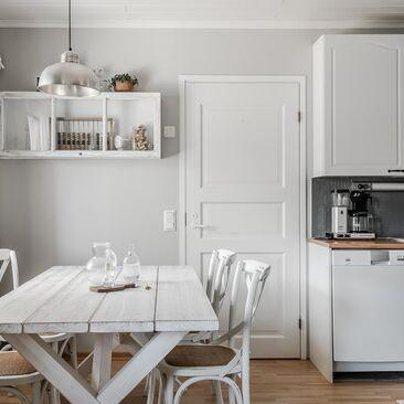 Harmonista tunnelmaa keittiössä ja ruokailutilassa