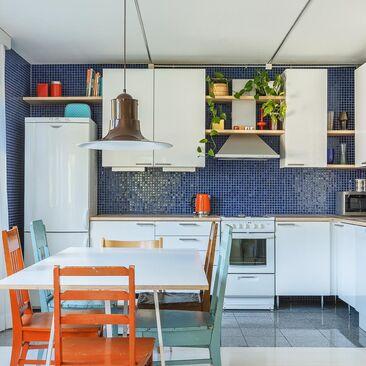 Ihanan värikäs keittiö