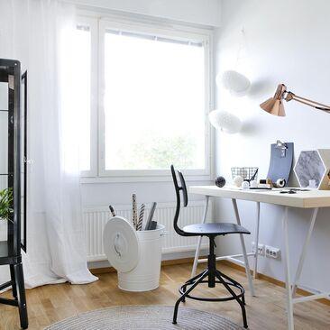 Kaunis työhuone on inspiroiva ympäristö