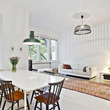 Skandinaavista tyyliä olohuoneessa
