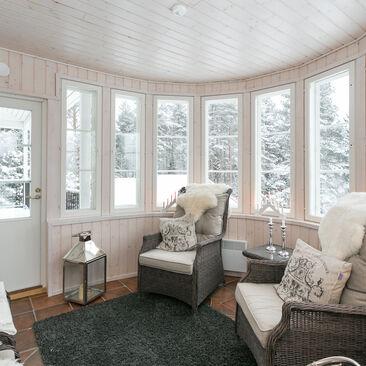 Hurmaava talvinen veranta
