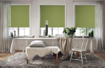 Hillittyjä värejä toistava tila herää uudella tavalla henkiin vihreillä rullakaihtimilla